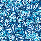 Blue floral pattern by Richard Laschon