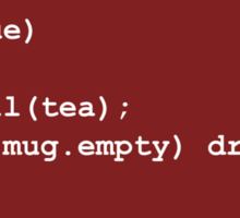 Code for Mug Use - Tea Sticker