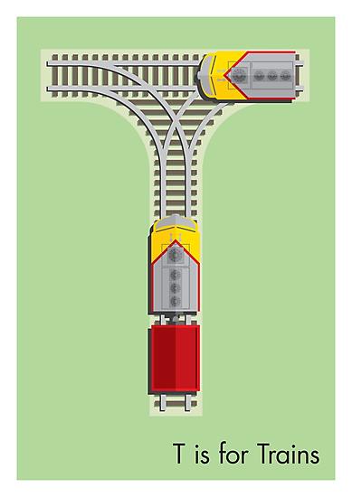 T is for Train by Jason Jeffery