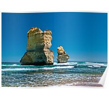 Cliff Remnants along the Great Ocean Road Poster