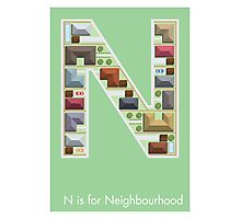 N is for Neighbourhood Photographic Print