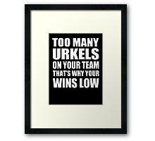 Too Many Urkels - Kanye West Framed Print