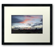 09 Arizona Sunset Benson  Framed Print