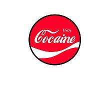 Enjoy Cocaine Photographic Print