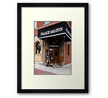 The Palace Saloon Framed Print