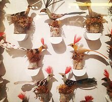 Bird Sculptures at New Mexican Folk Art Museum by dearmoon