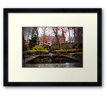 Winterthur Estate with Reflecting Pool Framed Print