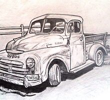 1949 Dodge truck drawing by RobCrandall