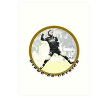 Adrea Pirlo Style - Juve Fan Soccer Player Art Print