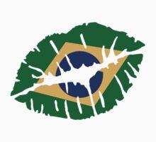 Brazil kiss lips by Designzz