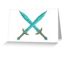 Epic Glass Sword Cross Greeting Card