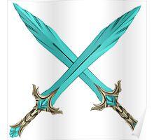 Epic Glass Sword Cross Poster