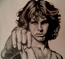 Jim Morrison drawing by RobCrandall
