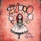 Girl Quirky Floating Free by Sarah Baron