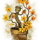 Orange Blossoms Baby Groot by AlexKujawa