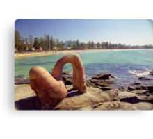 Sydney Beach Art Canvas Print