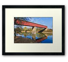 Long Red Covered Bridge Framed Print