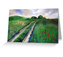 A road to somewhere Greeting Card
