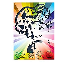 ACID ROCK SINGER - Colorful Psychedelic Photographic Print