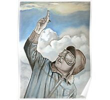 Aviator, pilot oil painting Poster
