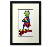 Kermit the Superman Framed Print