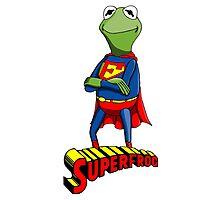 Kermit the Superman Photographic Print
