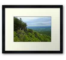 Powell Valley from Pinnacle Overlook Framed Print