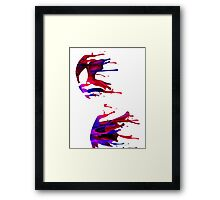 spiderman stain Framed Print