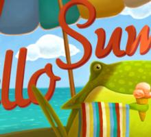 Hello summer and hello sea! Sticker