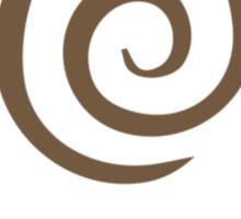Earthbending Symbol (brown) Sticker