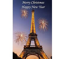 Merry Christmas Happy New Year Photographic Print
