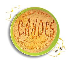 GRC Pancake Plate with Syrup words and Bees by Steven House