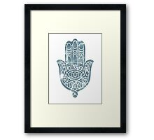 Water Ripple Hamsa Framed Print