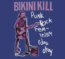 BIKINI KILL Punk Rock Feminism T-Shirt by betaville