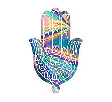Rainbow Holographic Hamsa Photographic Print