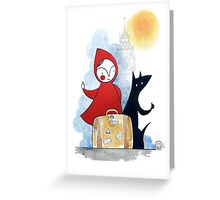 Red & Wolf in London Greeting Card