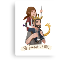 So f**king cool ellie and joel Canvas Print