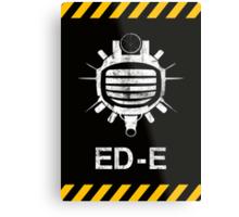 Fallout: ED-E [WHITE] Metal Print