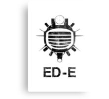 Fallout: ED-E [BLACK] Metal Print
