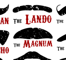 The Gentleman's Guide To Film & TV Moustaches Sticker