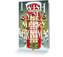 Christmas Card with English Cabin Greeting Card