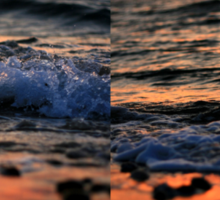 Evening Waves - Nature Photography Sticker