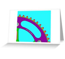 Psychedeli-Cat Chainring Greeting Card