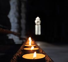 St Conans Kirk - Prayers Candles (interior) by Maria Gaellman