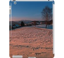A winter wonderland sundown | landscape photography iPad Case/Skin