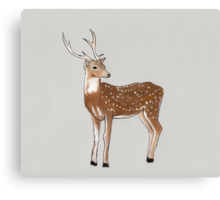 Nursery art - Deer that turns wishes Canvas Print