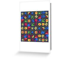 Pixel Mush Greeting Card
