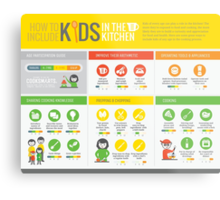 Cook Smarts' How to Involve Kids in the Kitchen Infographic Metal Print
