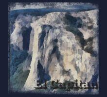 Rock Climbing Yosemite El Capitan Abstract by SportsT-Shirts