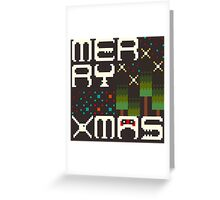 Merry 8bit Christmas Greeting Card
